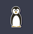 paper sticker on stylish background penguin vector image vector image