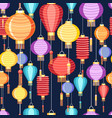 pattern chinese lanterns vector image vector image