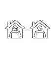people working from home icon set freelance man vector image vector image