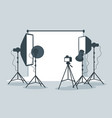 photo equipment in photography studio vector image vector image