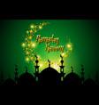 ramadan kareem greeting card with half moon and vector image vector image