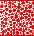 red purple heart seamless pattern of the icons vector image vector image