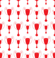 red Seamless pattern with trophy vector image