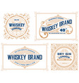 retro card set of 4 templates layered vector image vector image