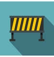 Safety barricade icon flat style vector image vector image