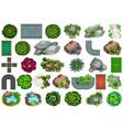 set garden element vector image vector image
