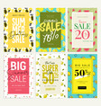 set mobile ads and posters summer sale banners vector image vector image