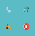 set of industry icons flat style symbols with hand vector image