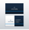 simple blue business card design template vector image vector image