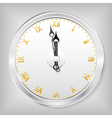skeleton clock vector image vector image