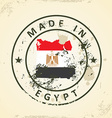 Stamp with map flag of Egypt vector image vector image