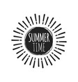summer fun sticker sun badge hand drawn vector image