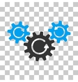 Transmission Wheels Rotation Icon vector image vector image
