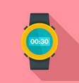 underwater clock icon flat style vector image