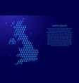 united kingdom map abstract schematic from blue vector image