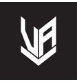 va logo monogram with emblem shield style design vector image vector image