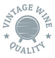 vintage wine logo simple gray style vector image vector image