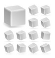 white cube 3d set perspective models
