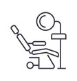 dental clinicdentist s chair line icon vector image