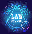 live music concert poster festival banner vector image