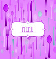 violet restaurant card vector image