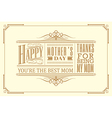 happy mothers day typography vintage frame design
