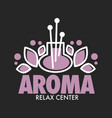 aroma relax center graphic logo for vector image
