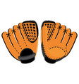 baseball glove two side vector image vector image