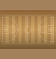basketball court on top eps10 vector image