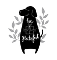 Be grateful Brush hand lettering vector image
