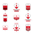 blood donation conceptual collection healthcare vector image