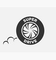 car tire logo template vector image vector image