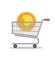 cart money currency isolated vector image