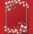 christmas greeting card background with gifts vector image