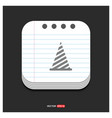 christmas tree icon gray icon on notepad style vector image