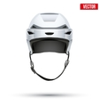 Classic white Hockey Helmet isolated on Background vector image vector image