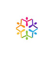 colorful abstract people logo vector image vector image