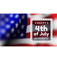 congratulations on americas independence day vector image