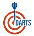 dartboard playing darts game target with aim vector image