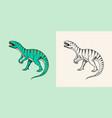 dinosaurs tyrannosaurus rex afrovenator vector image vector image