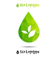 ecology logo or icon in eps nature logotype drop vector image vector image