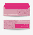 envelopes for letters front and back vector image vector image
