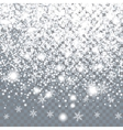 Falling large snow on a transparent background vector image vector image