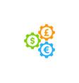 gear stock market business logo icon design vector image vector image