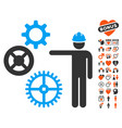 gears mechanics presentation icon with dating vector image