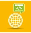 globe development technology code icon vector image vector image