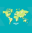 green world pixel map with empty bubbles vector image vector image