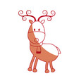 happy cartoon christmas reindeer with scarf vector image
