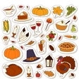 Happy Thanksgiving Day set vector image vector image