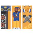 hip hop man accessory musician banner vector image